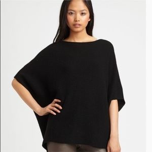 Vince Black Wool Cashmere Poncho Sweater